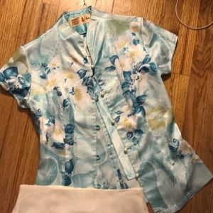 Asian top and vintage skirt